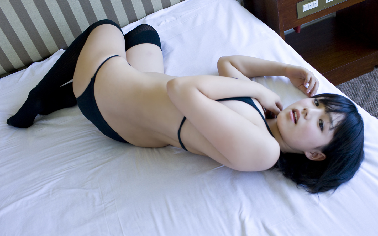 woman panties beds asians HD Wallpaper
