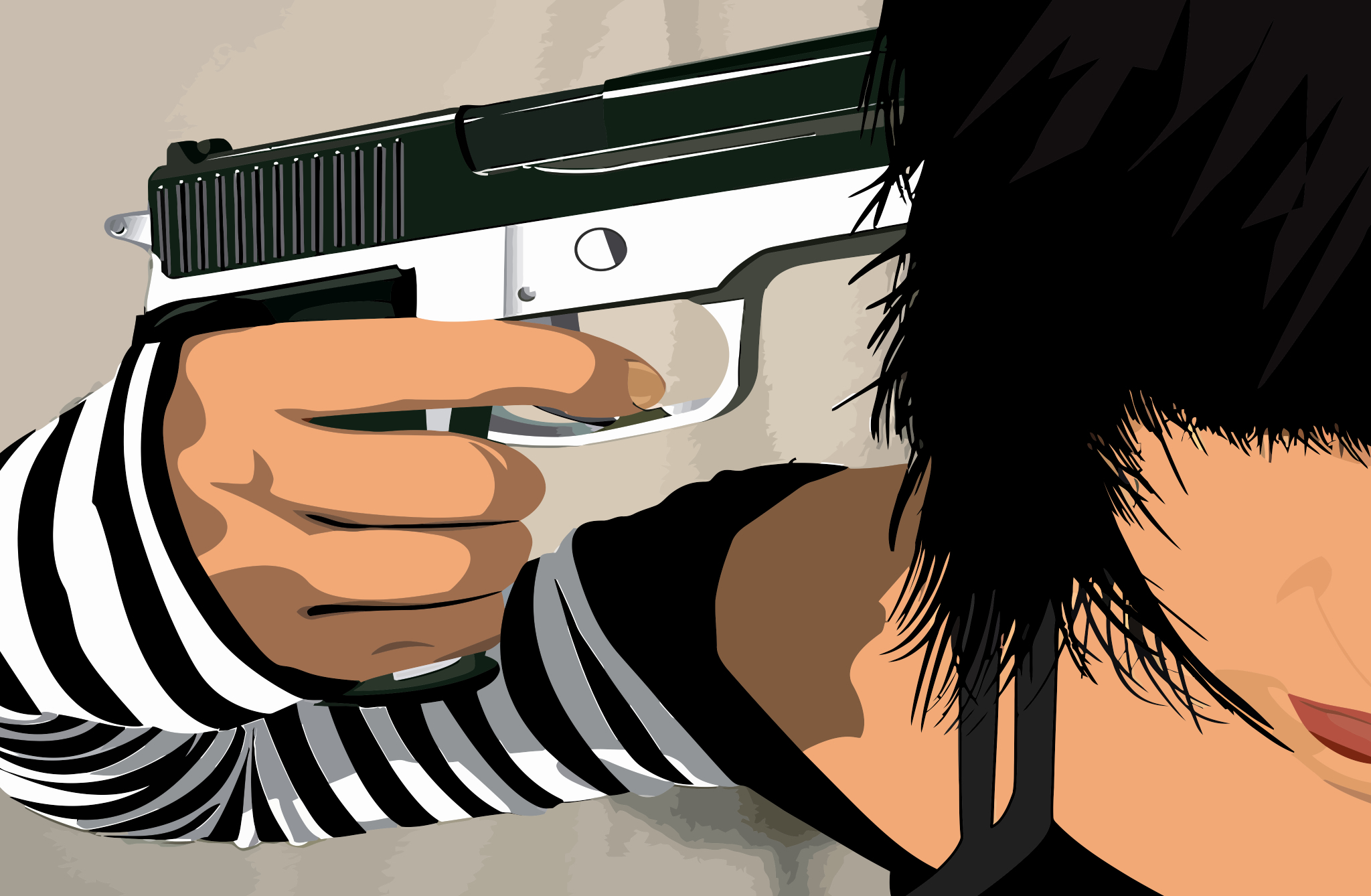 woman pistols Guns vectors HD Wallpaper
