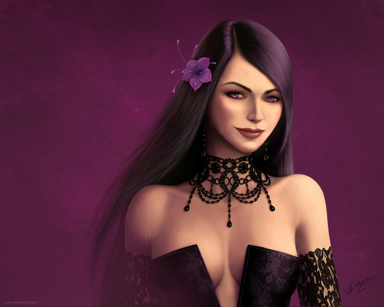 woman purple deviantart Gothic HD Wallpaper