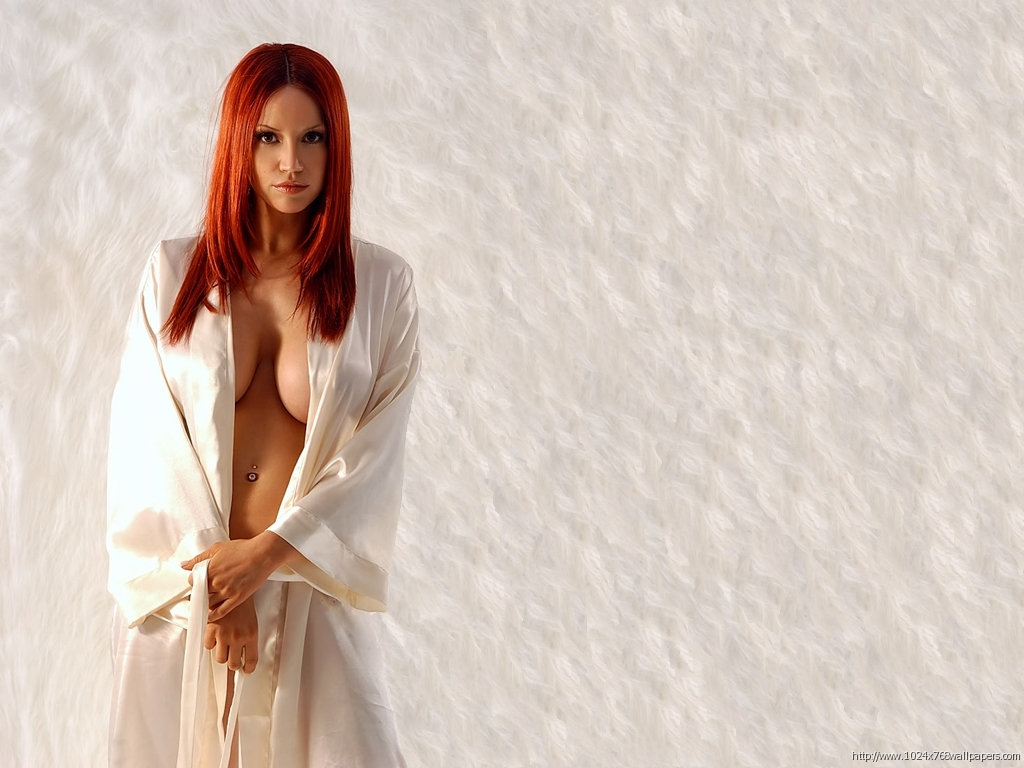 woman redheads cleavage Bianca HD Wallpaper
