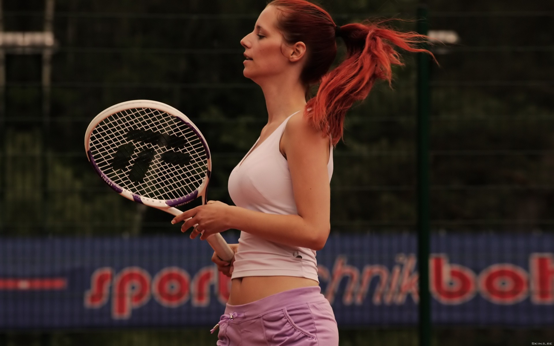woman redheads Sports models HD Wallpaper