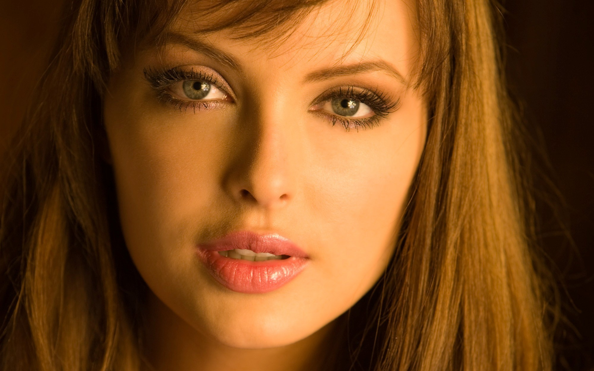 woman Shera Bechard faces HD Wallpaper