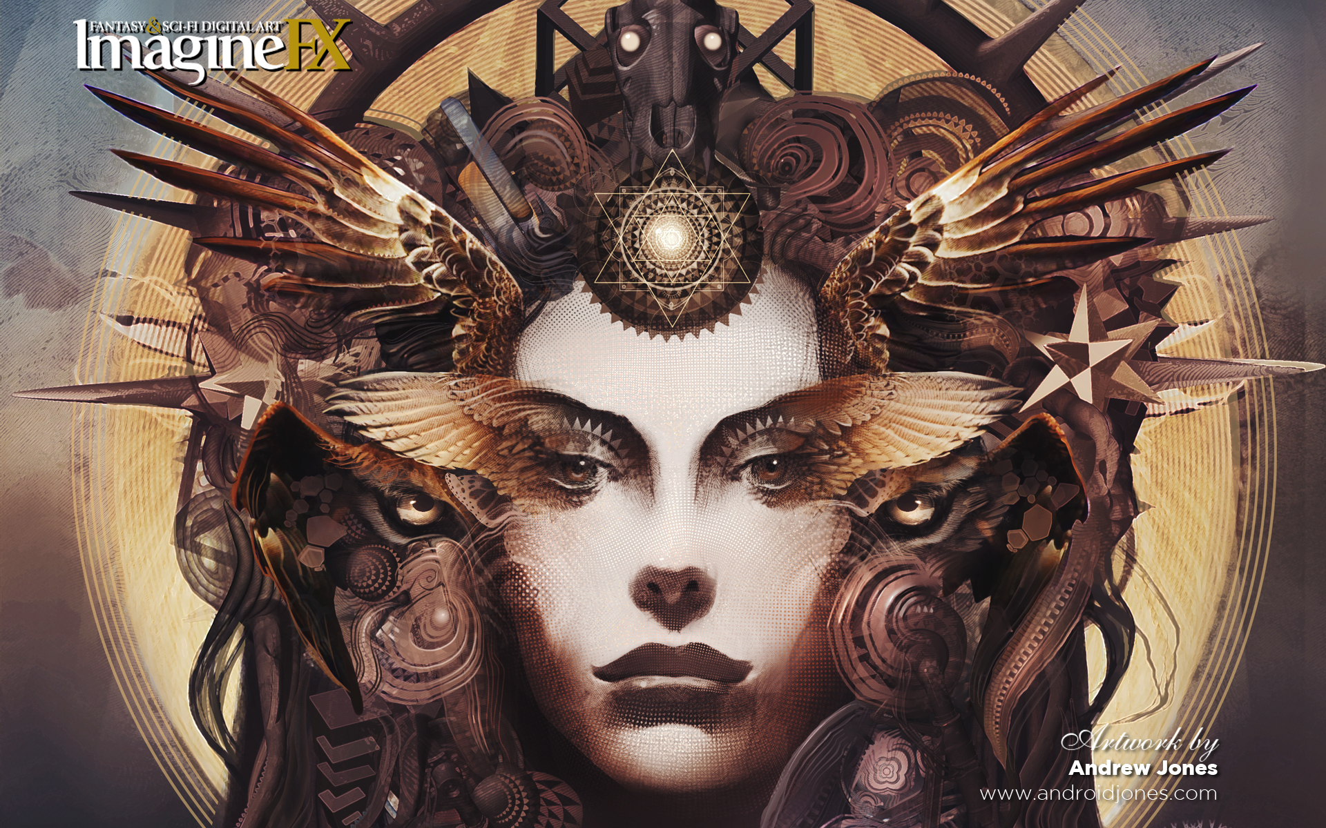 woman Stars steampunk fantasy HD Wallpaper