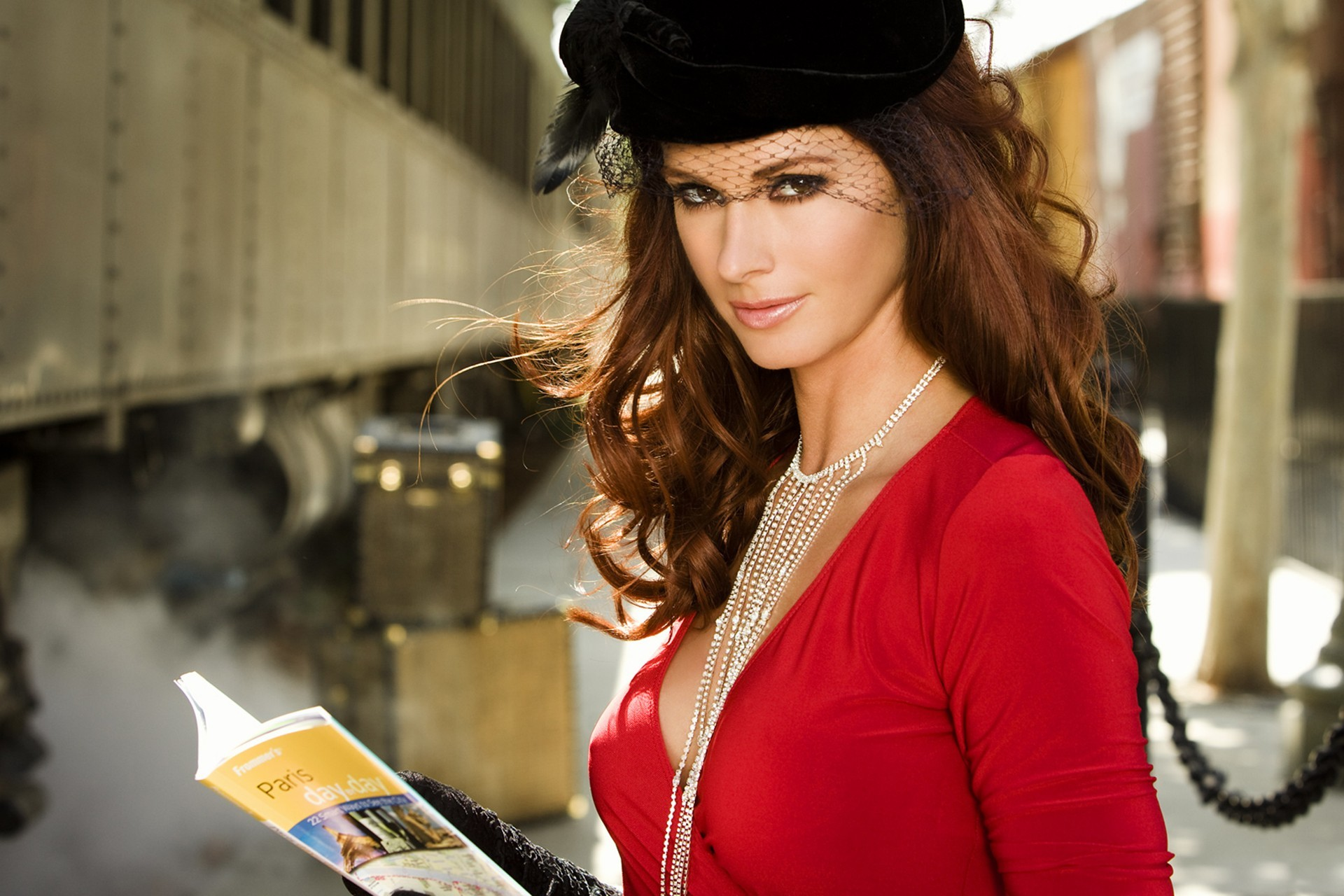 woman steam trains train HD Wallpaper