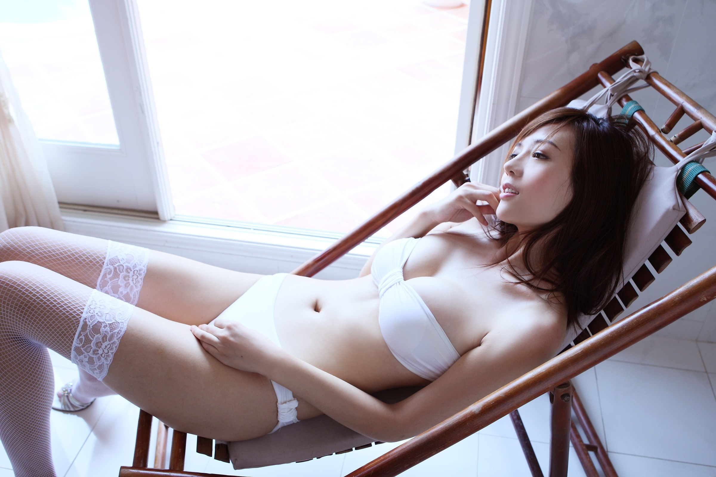 woman stockings Japanese asians