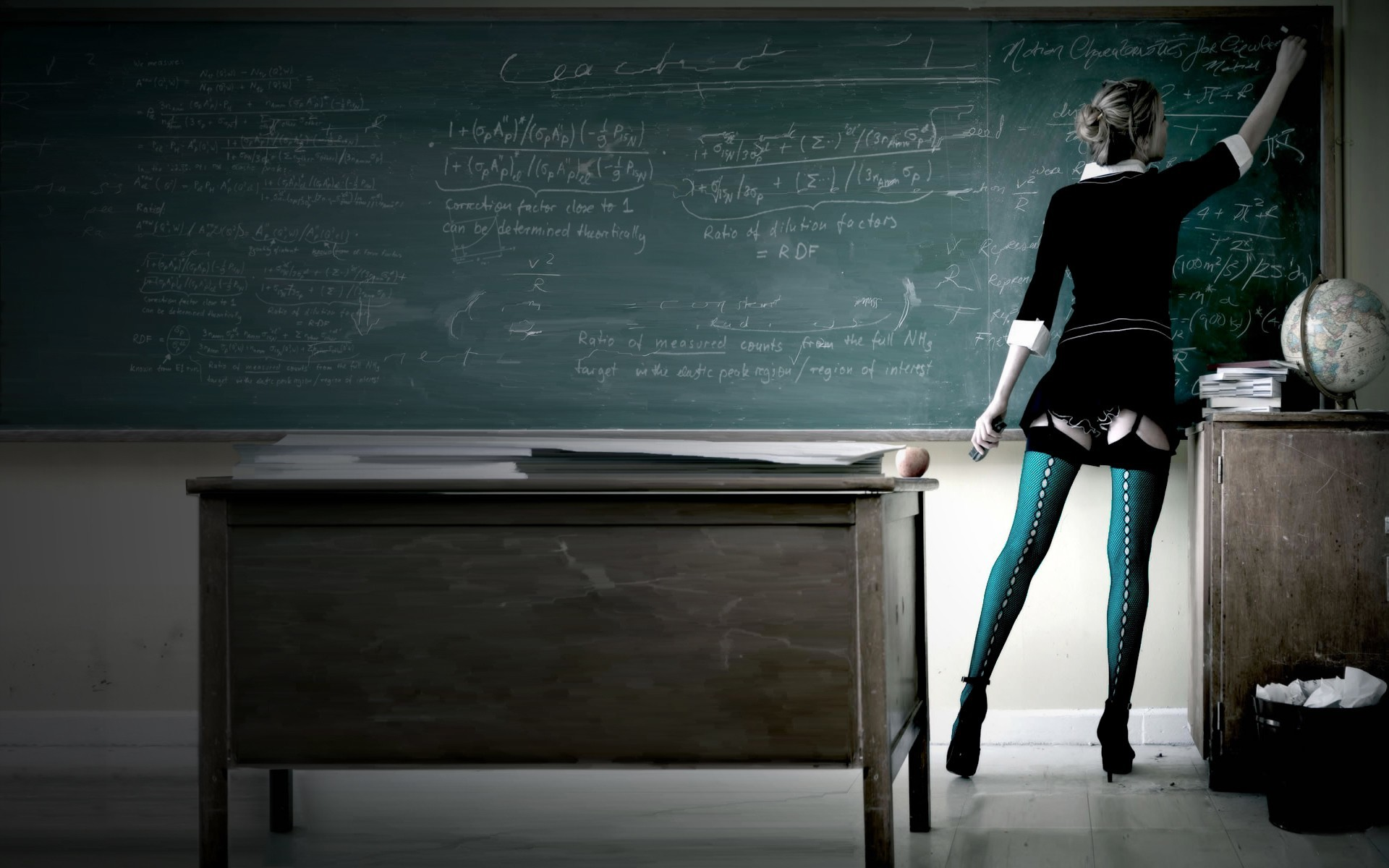 woman stockings teachers HD Wallpaper
