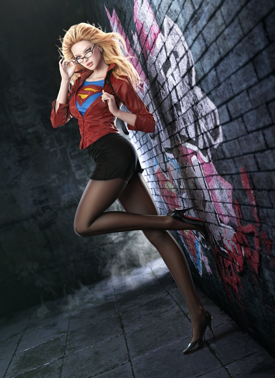 woman supergirl artwork HD Wallpaper