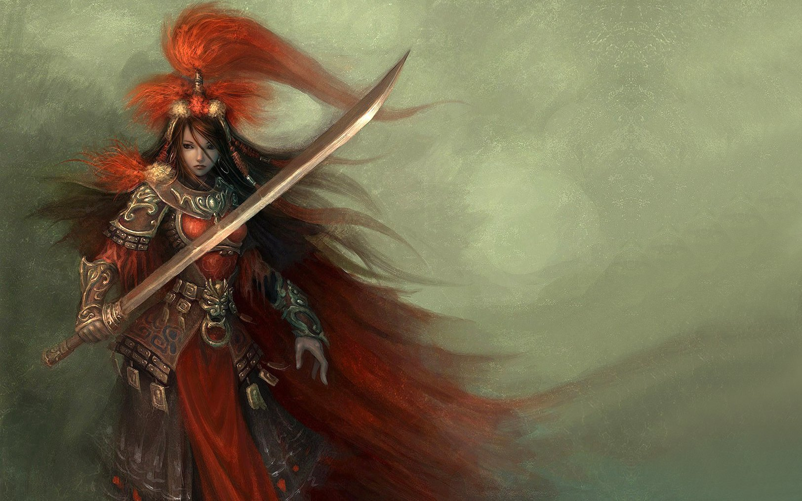 woman weapons blade armor HD Wallpaper