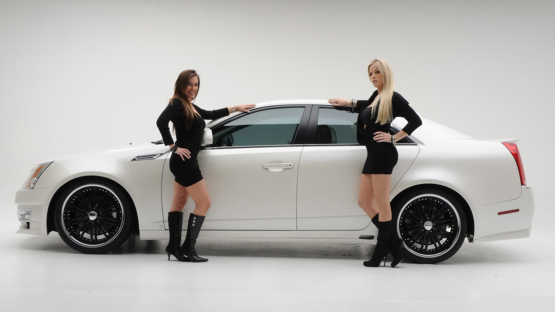 woman white cars girls HD Wallpaper