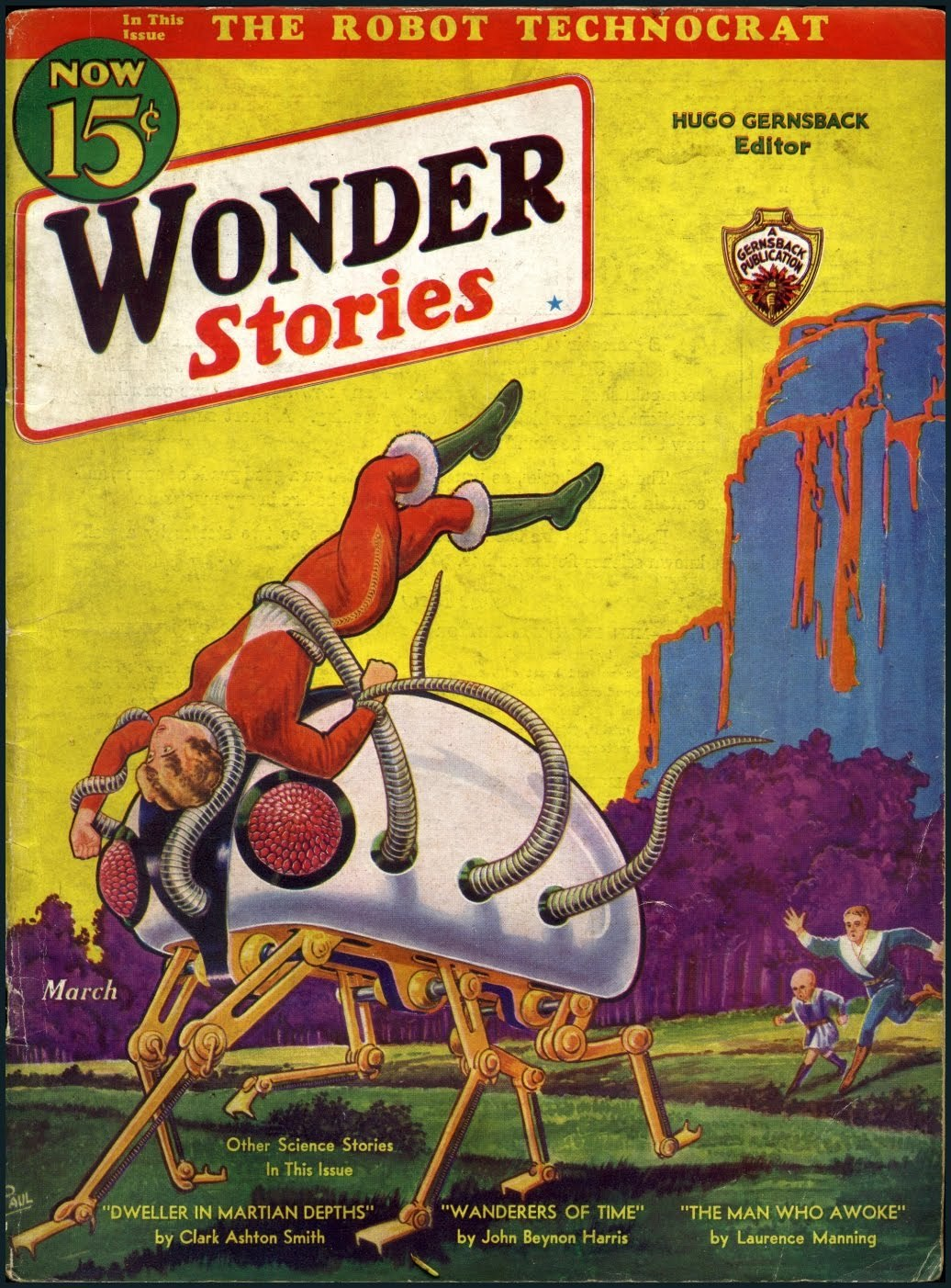 wonder stories mar 1933 HD Wallpaper