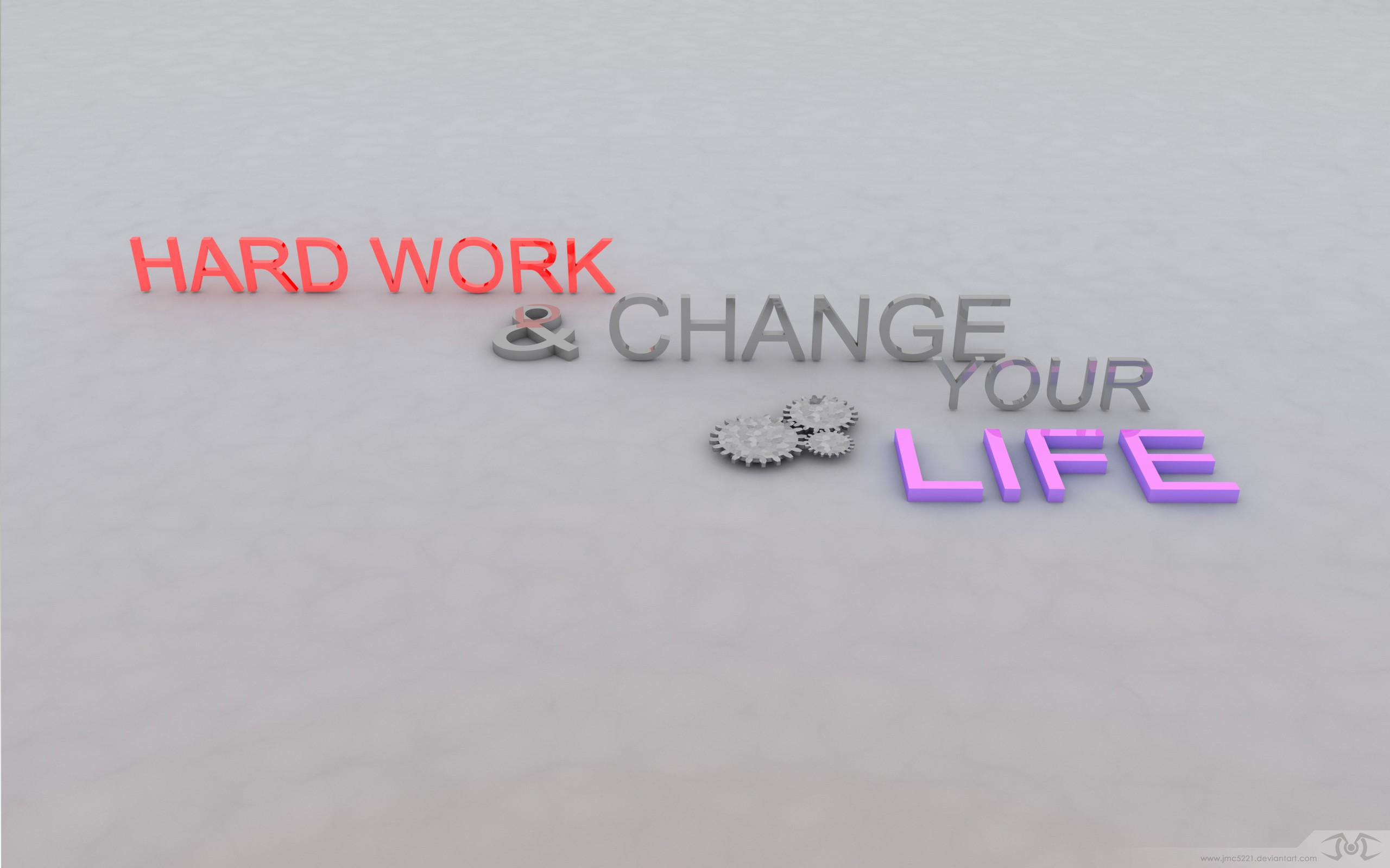 work Typography 3d motivation HD Wallpaper
