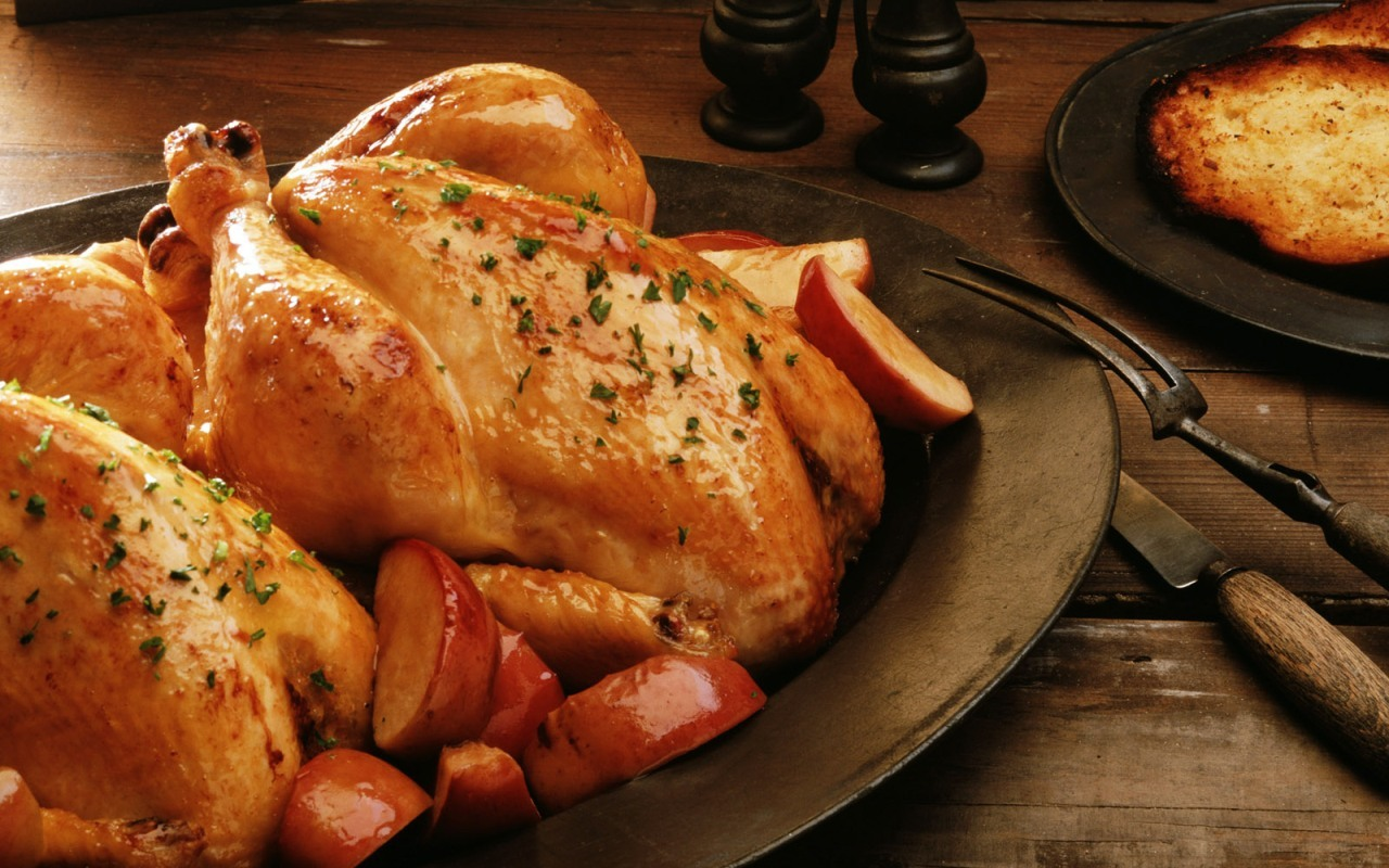 World food Chickens Turkey HD Wallpaper