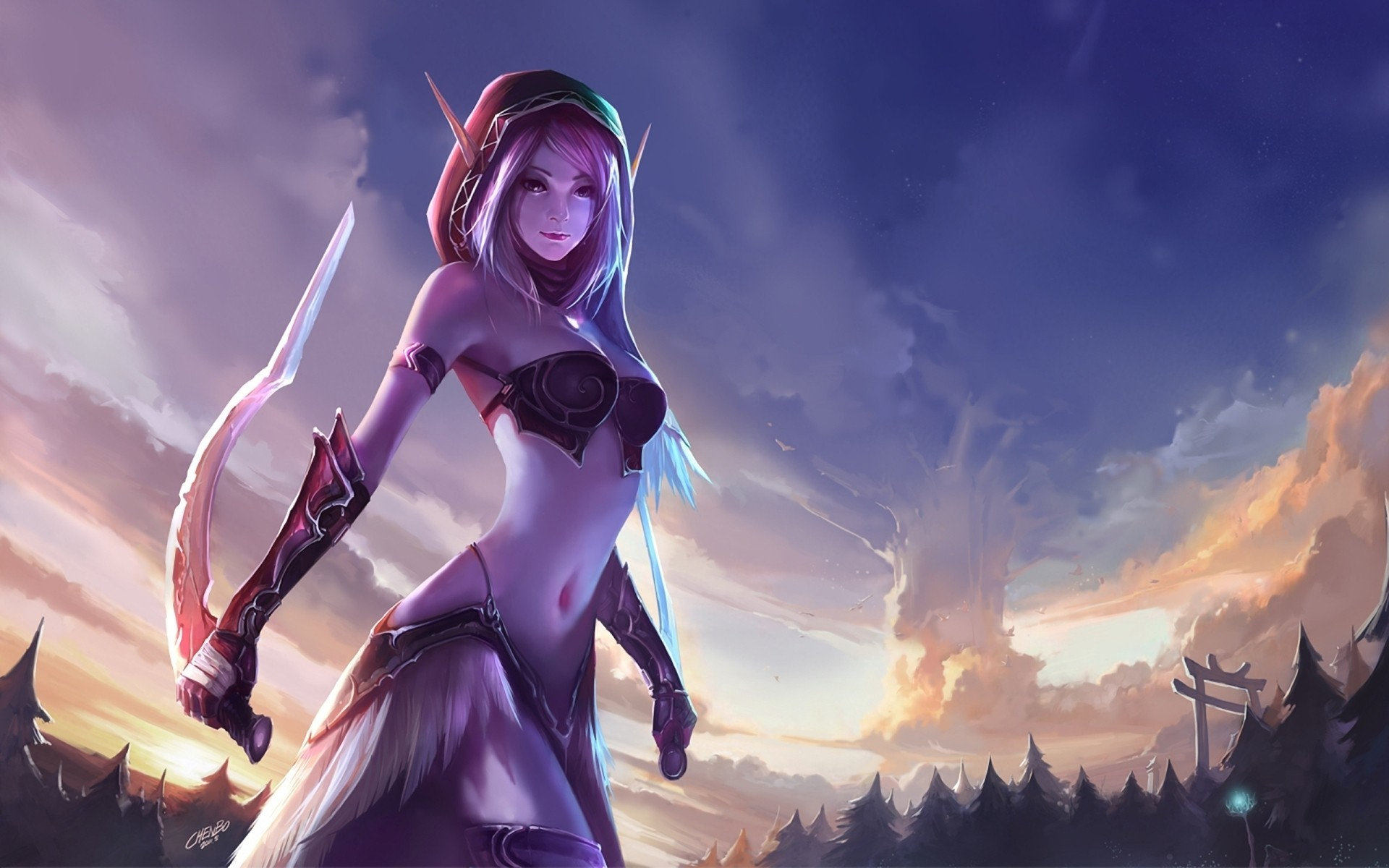 world of warcraft blade HD Wallpaper
