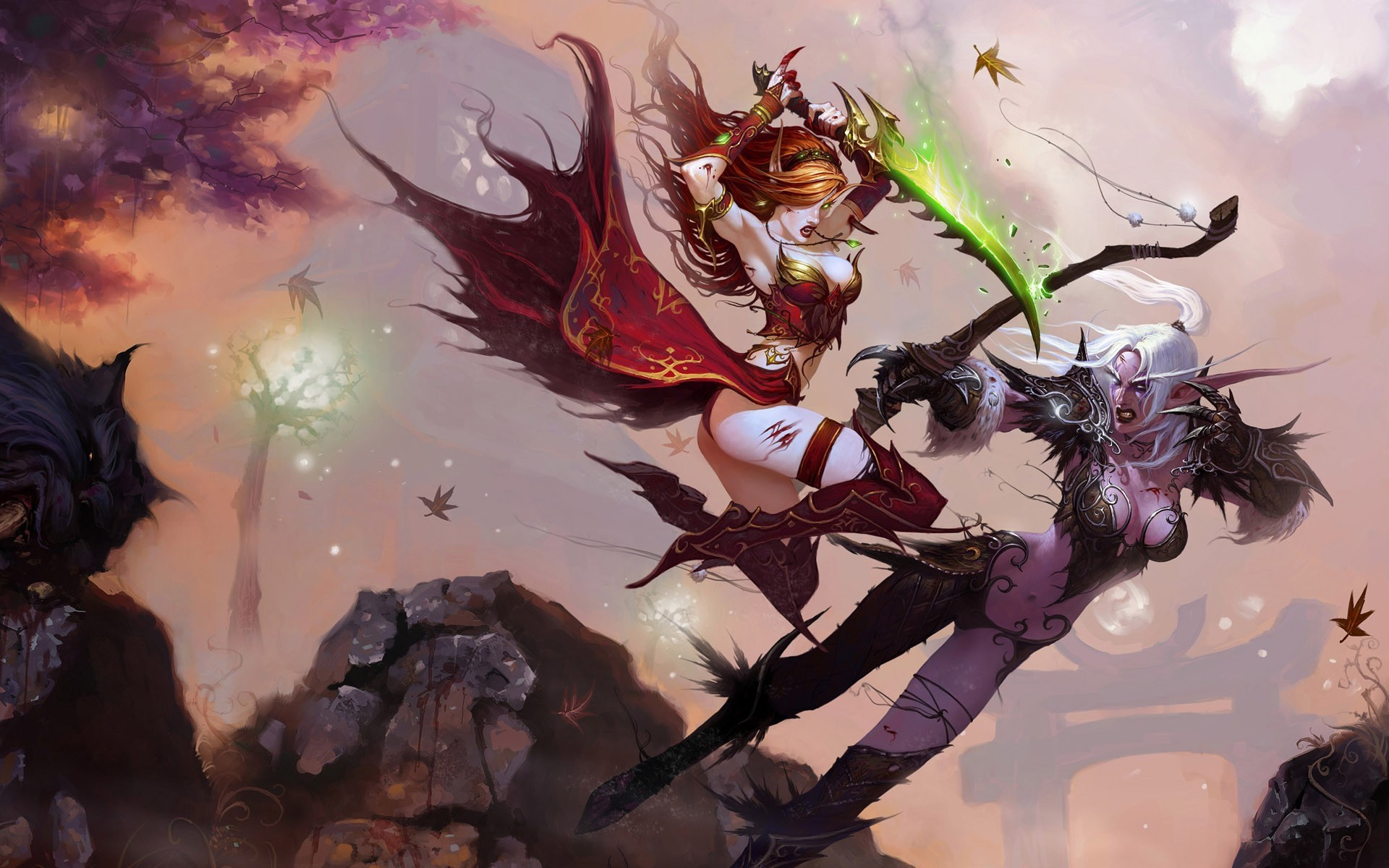 world of warcraft blood HD Wallpaper