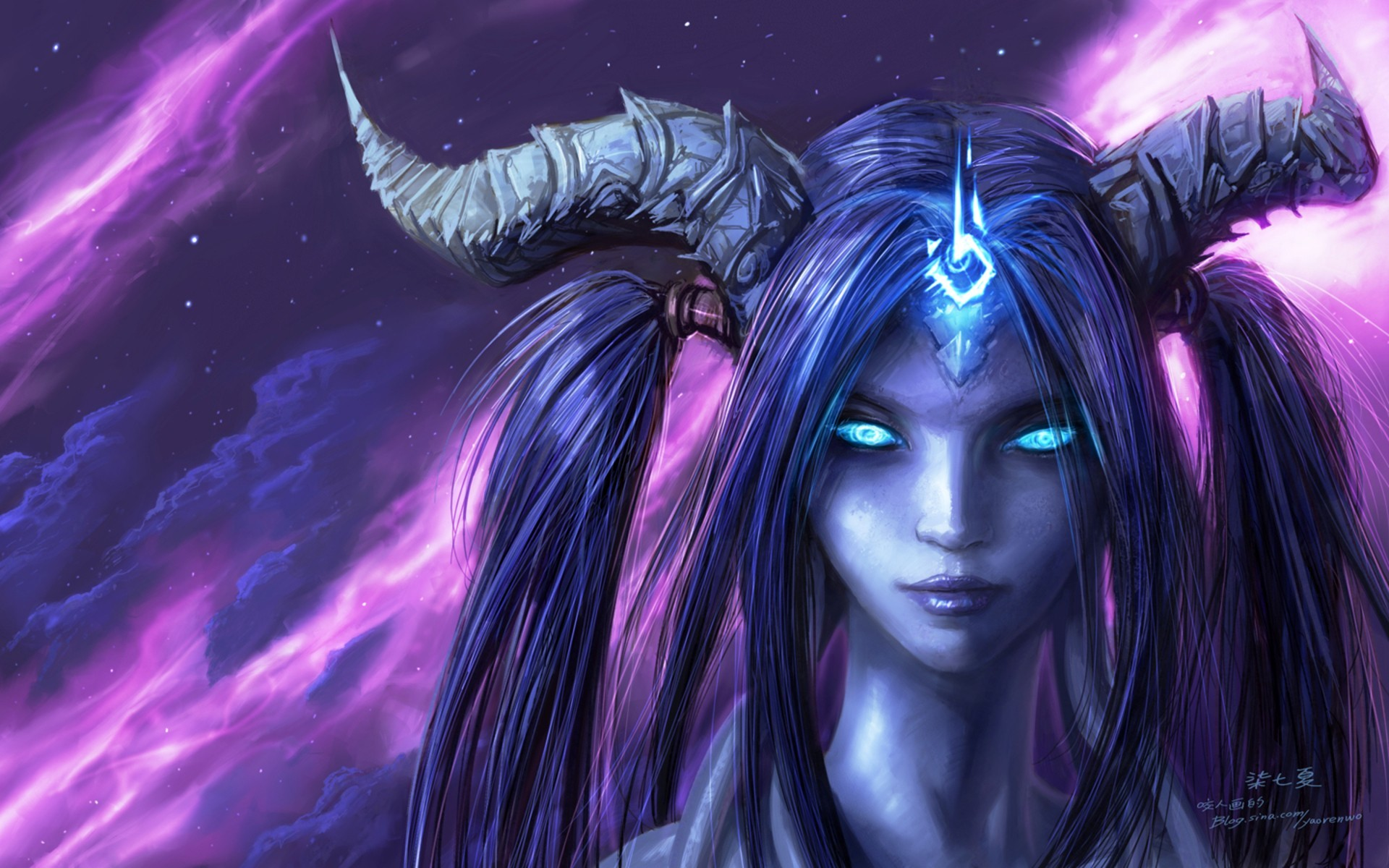 world of warcraft blue HD Wallpaper