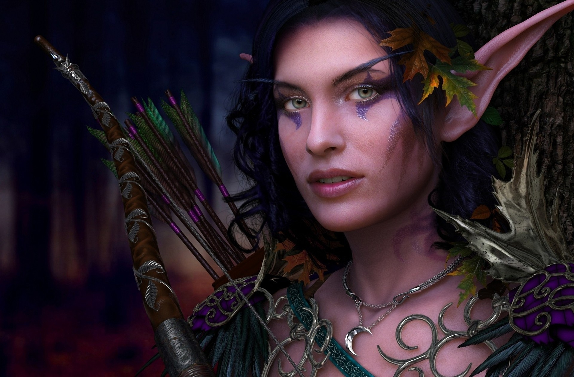 world of warcraft elves HD Wallpaper