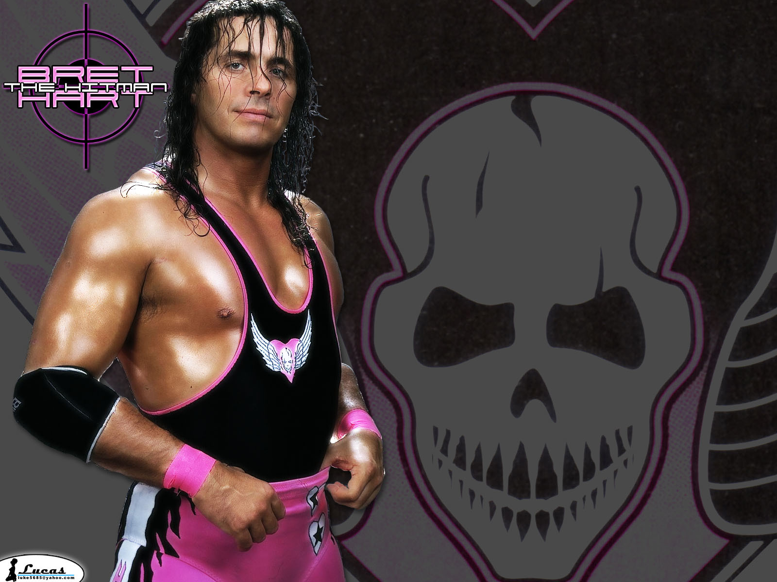 wrestling entertainment bret hart HD Wallpaper