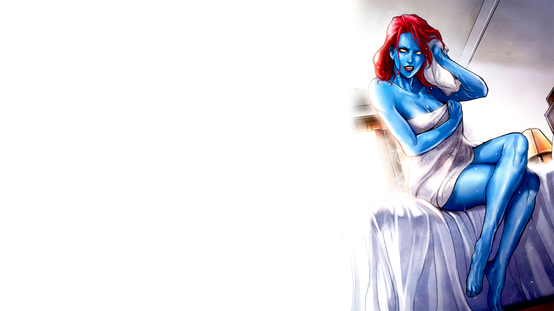 X-Men beds towels mystique HD Wallpaper