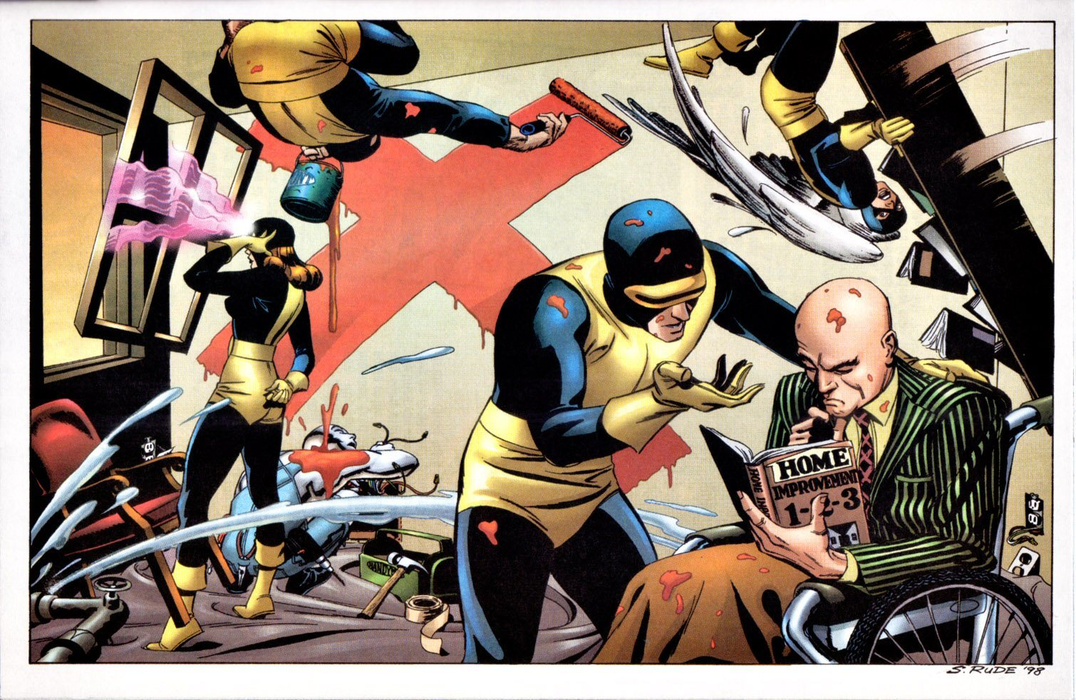 X-Men Cyclops cartoon HD Wallpaper