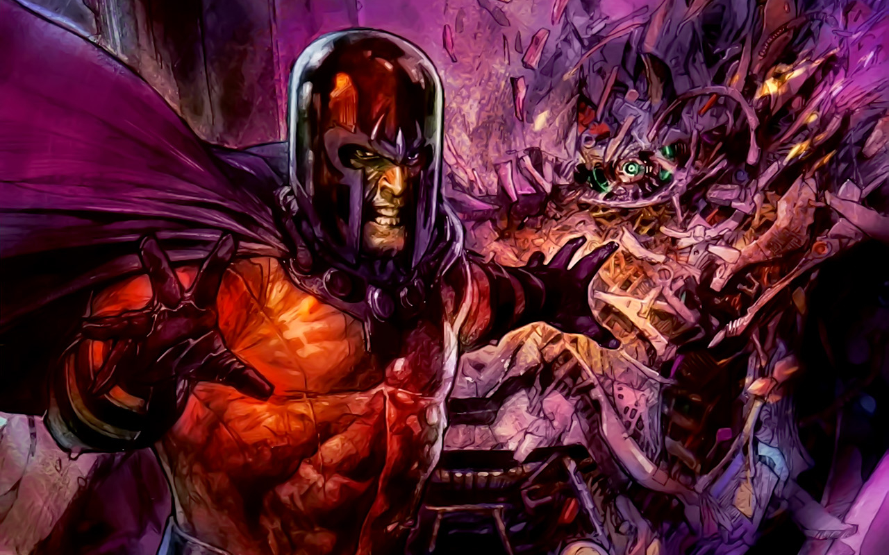 X-Men magneto cartoon HD Wallpaper
