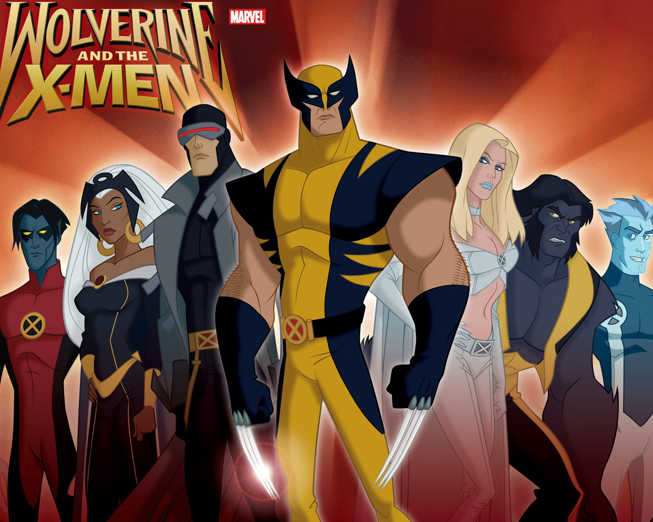 X-Men wolverine Cyclops cartoon HD Wallpaper