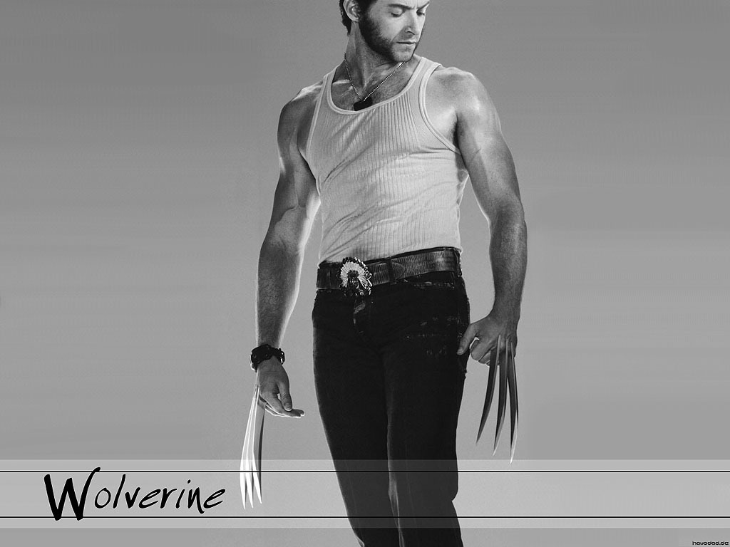 X-Men wolverine monochrome Hugh HD Wallpaper