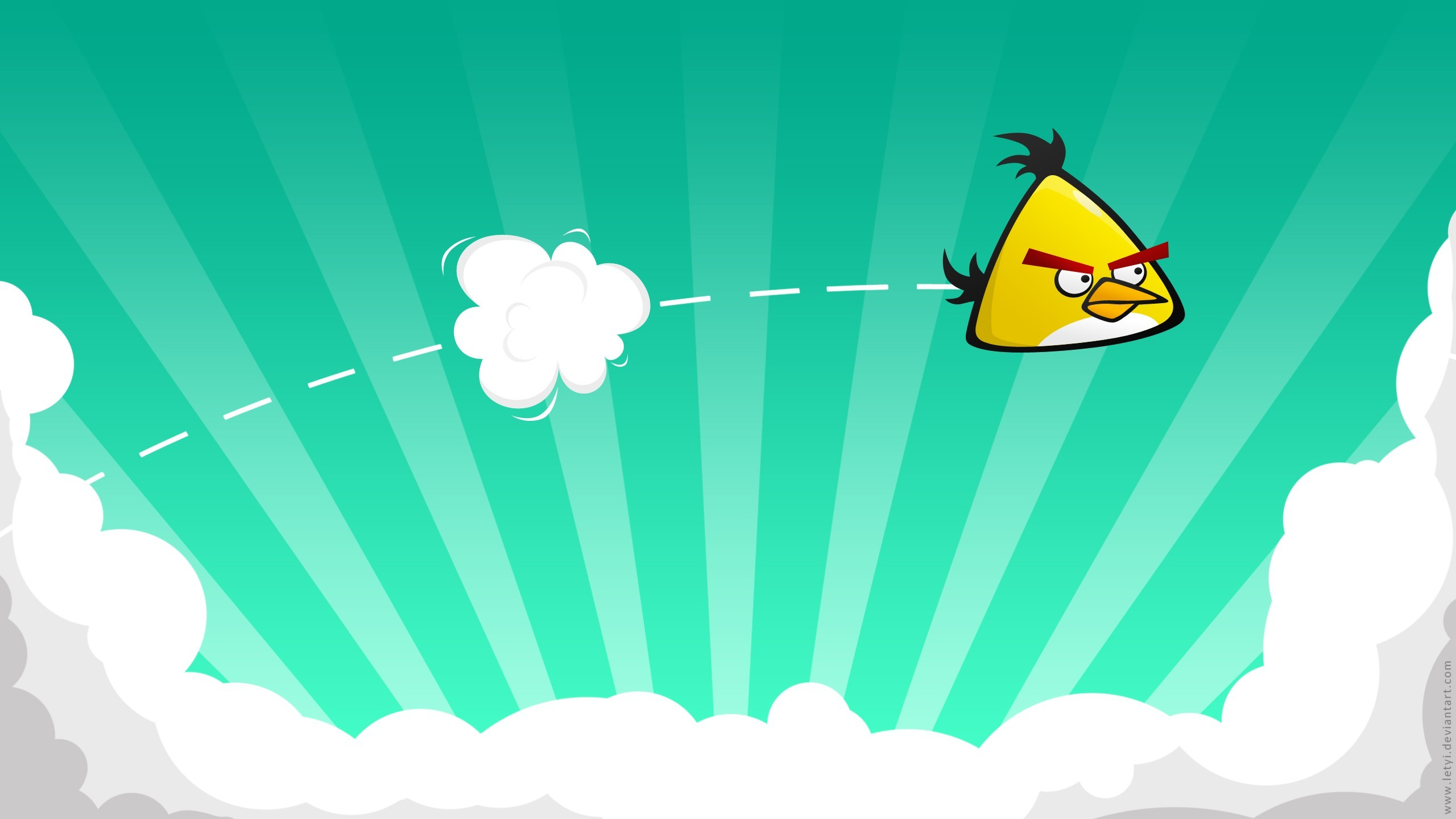 yellow angry birds HD Wallpaper