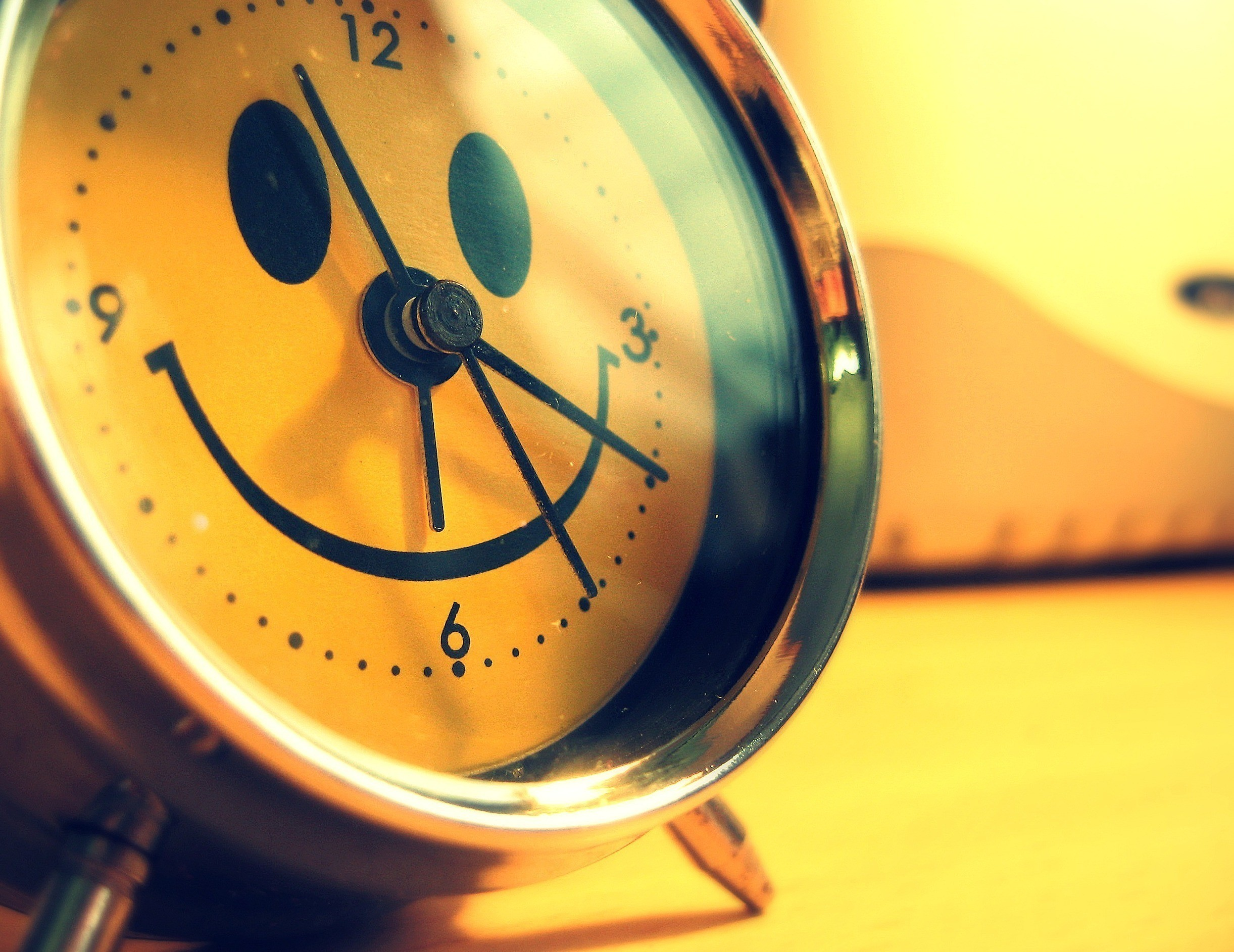 yellow clocks smiley face HD Wallpaper