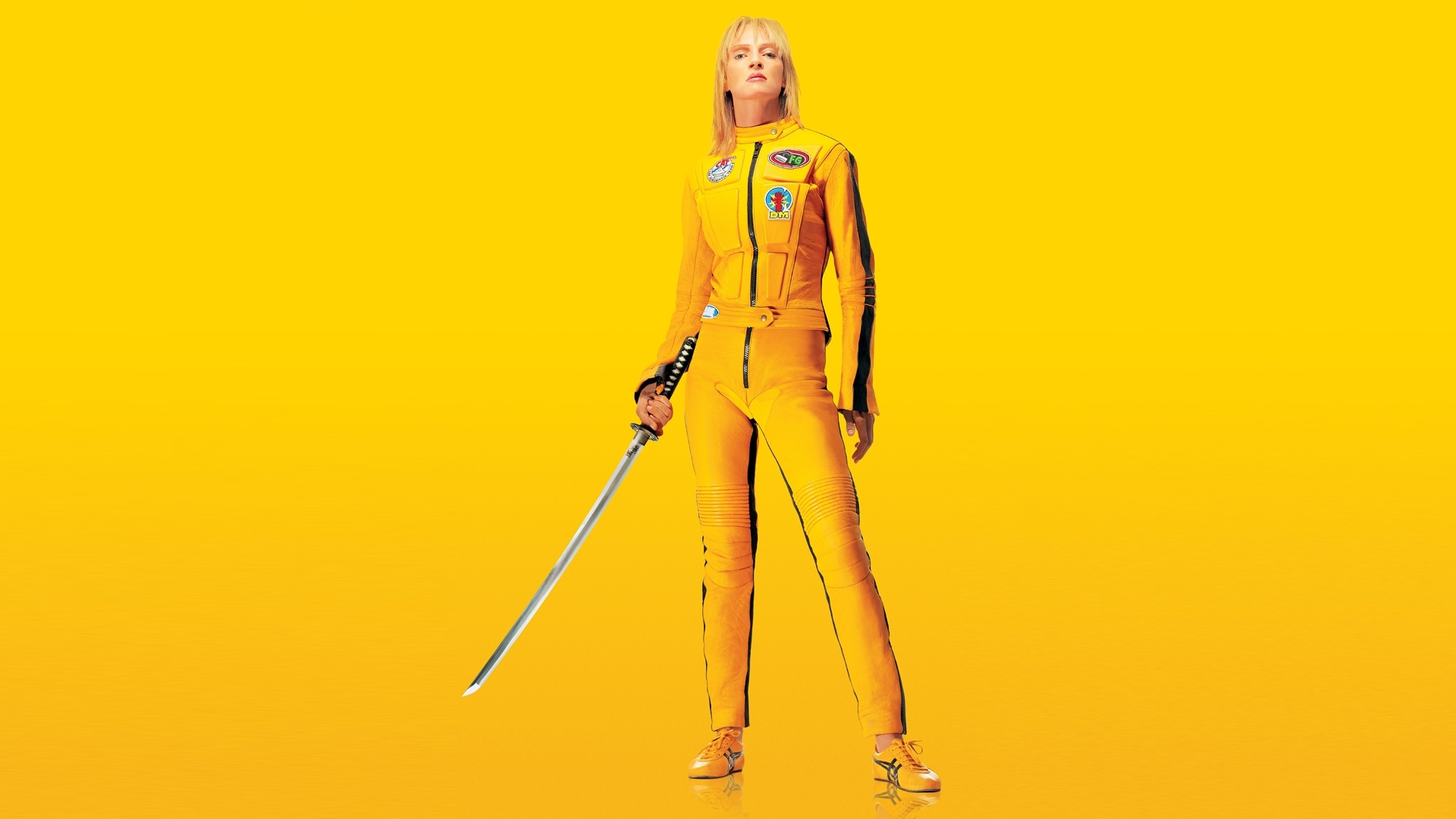 yellow Uma Thurman Kill HD Wallpaper