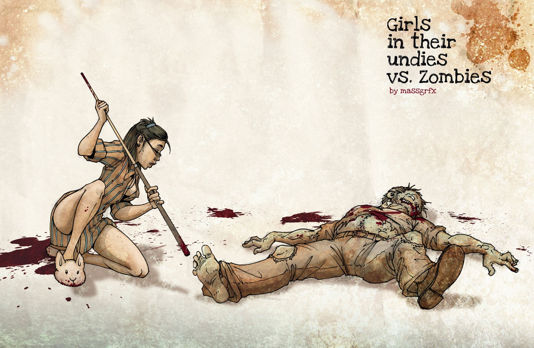 zombies artwork Girls in HD Wallpaper