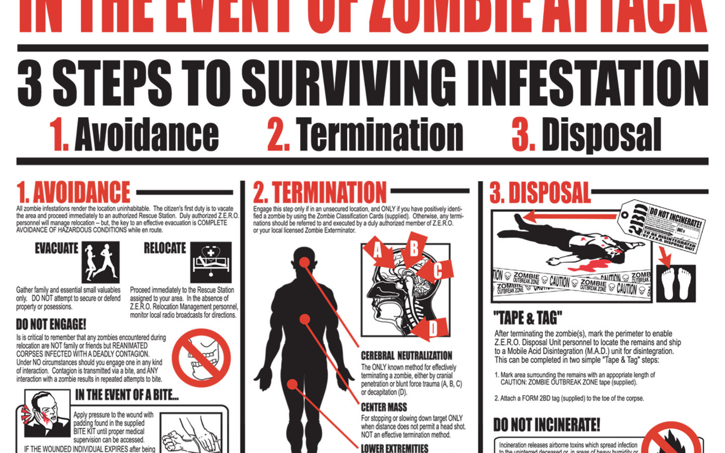 zombies infographics survive survival HD Wallpaper