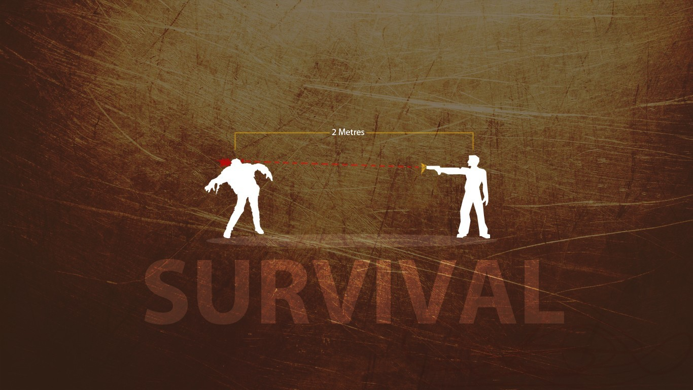 zombies silhouettes Apocalypse survival HD Wallpaper
