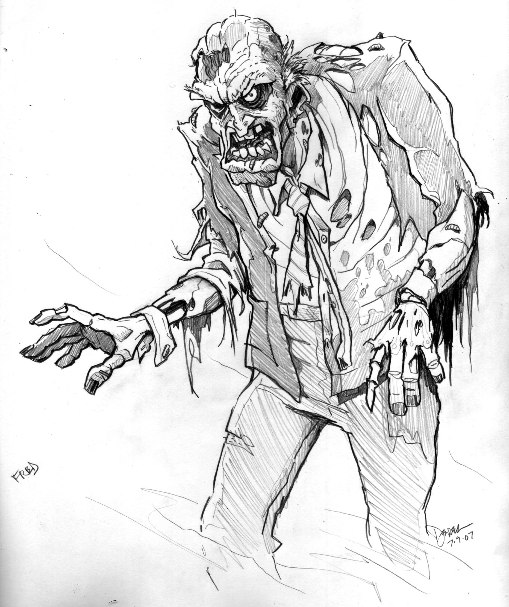 zombies sketches artwork